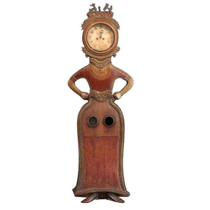 Mora clock in the shape of a woman