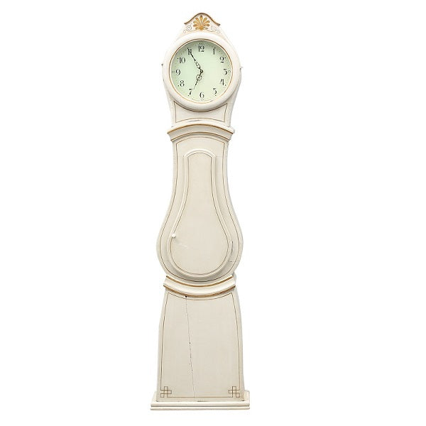 Swedish Mora Clock - cream with gold