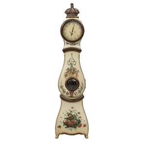mora clock with delicate floral hand painted details