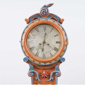 Unique Mora clock with name of mora clock maker on the face