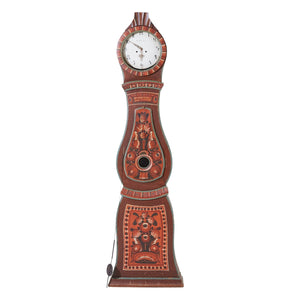 mora clock with folk style hand painted details