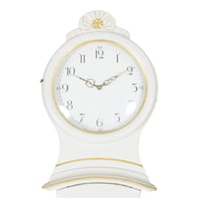 Mora Clock in white with gold - face detail
