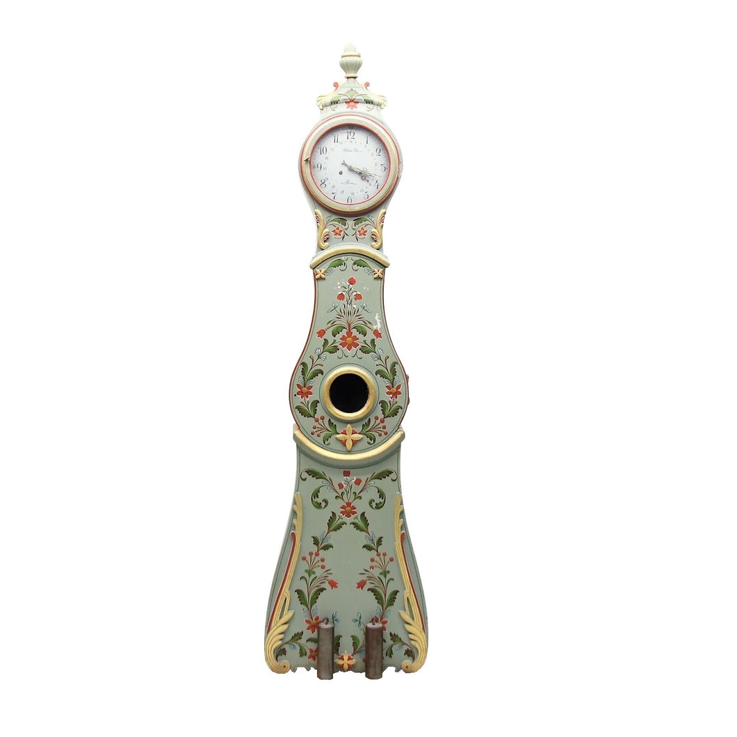 Mora Clock with crown and gilded edgings