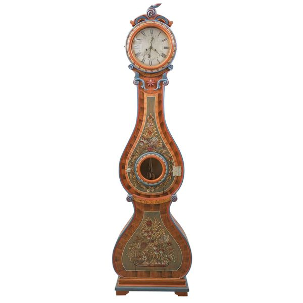 Mora Clock from Sweden with floral details