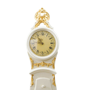 mora clock with delicate face detail