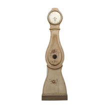 mora clock with natural floral detail and brown colour
