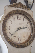 Reproduction Mora Clock in antique white - face