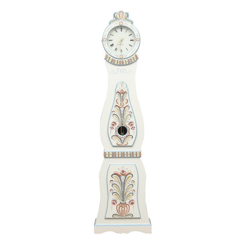 Swedish Mora Clock - hand painted flowers