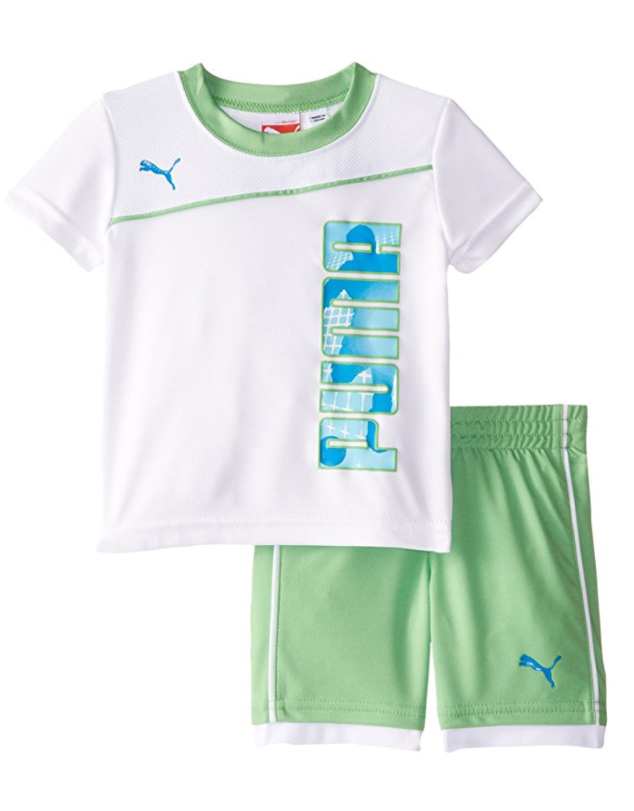 Puma Baby Boy s Short Set with Goal Green – Mom loves you
