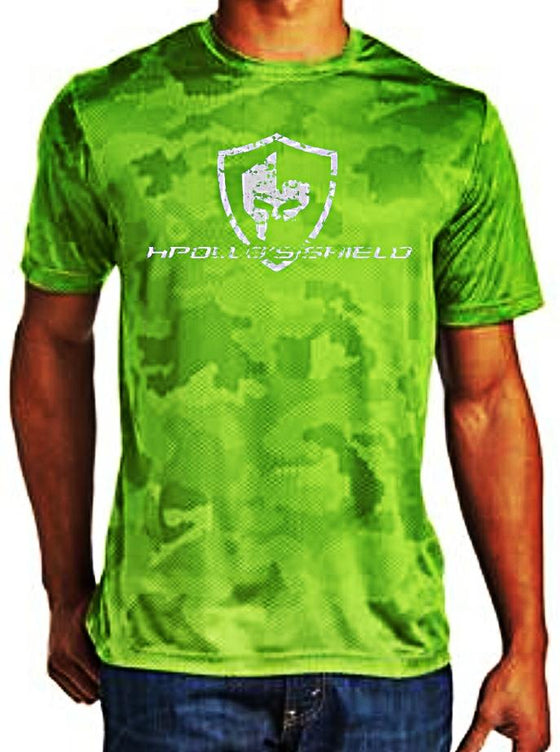 Hex Camo Short Sleeve Shirt - Lime Shock