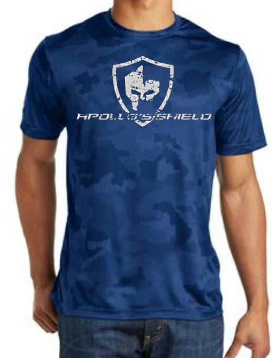 Hex Camo Short Sleeve Shirt - True Royal