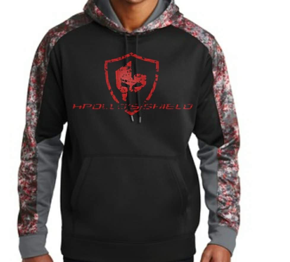 Performance Hoodie - Black Red Camo