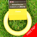 IndestructaBone Dog Chew Ring Toy - Pack of 3
