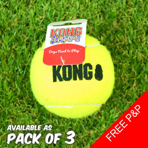 KONG Air Squeaker Dog Tennis Ball Squeakair