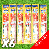 6 x VITAKRAFT Beef Sticks Dog Treat - Chewy Tasty Meat Vegetables Lamb Turkey