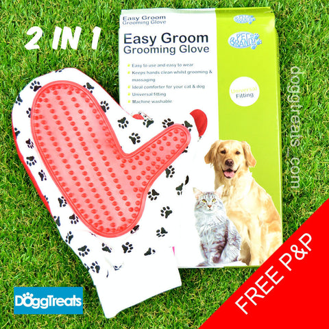 2in1 Dog or Cat Grooming Glove