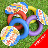 Rubber Ring Dog Toy - Small 9cm - 4Colours - Chew - Play - Teeth Theething - Tug