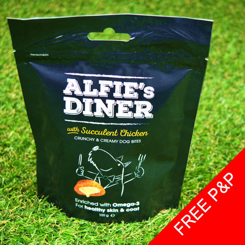 Alfie's Diner Dog Treats - Chicken - 100g