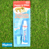 Dog Toothpaste Puppy Cat Kitten Toothbrush Finger Brush Set Pack Dental Hygiene