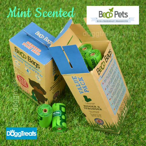 Dog Poop Bags - Beco Biodegradable - Mint Scented
