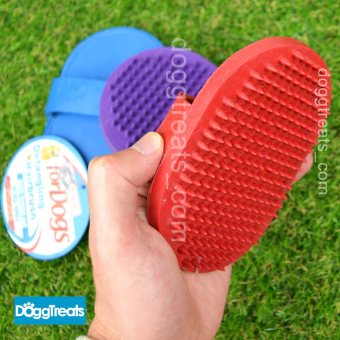 Classic Rubber Dog / Cat Fur Detangling Palm De-furring Shedding Hair Brush