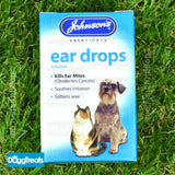 Johnsons Dog and Cat Ear Cleaner Dropper Soothing - Drops For Wax Cleaning Mites