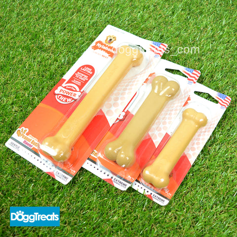 Nylabone Power Dura Chew Peanut Butter Chew Bone Toy