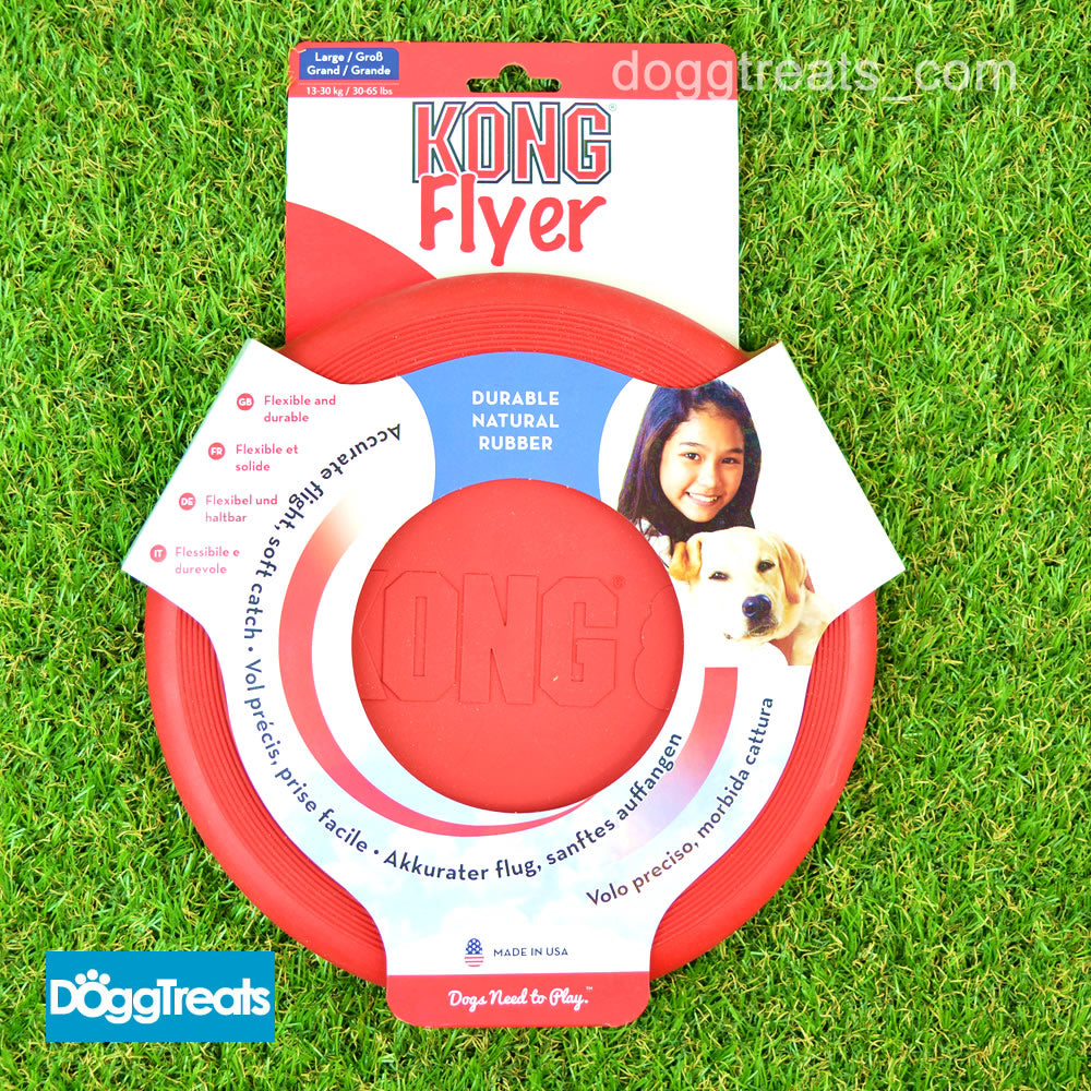Kong Flyer Dog Frisbee Small Large Extreme Puppy