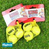 KONG Air Squeaker Dog Tennis Balls Squeakair - Small, Medium, Large