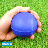 SOLID RUBBER BALL DOG TOY LARGE - Classic Fetch Chase Chew Hard Balls - 7cm