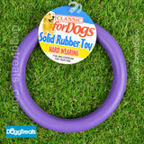 Rubber Ring Dog Toy - Large 7""