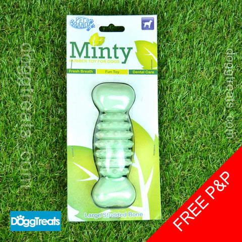 Minty Fresh Rubber Dental Bone Dog Toy