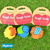 Rope & Rubber Ball Dog Toy - Rosewood Tough Twist