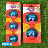 KONG Squeezz Action Ball - Squeak Rubber Chase & Play Ball