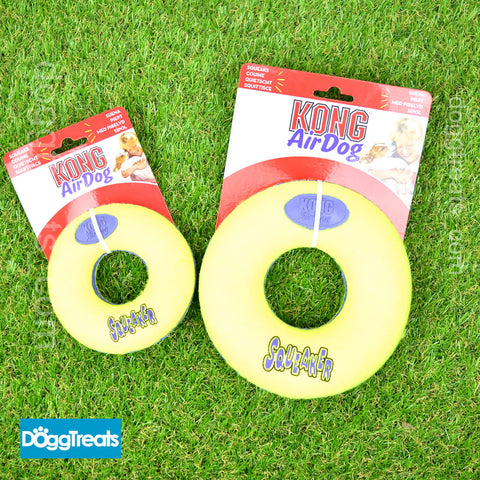 KONG Squeak Ring Dog Toy Doughnut - Air Squeaker Donut Ball Small Medium Large
