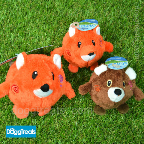 Ancol Bouncing Woodland Bear / Fox Dog Toy Ball