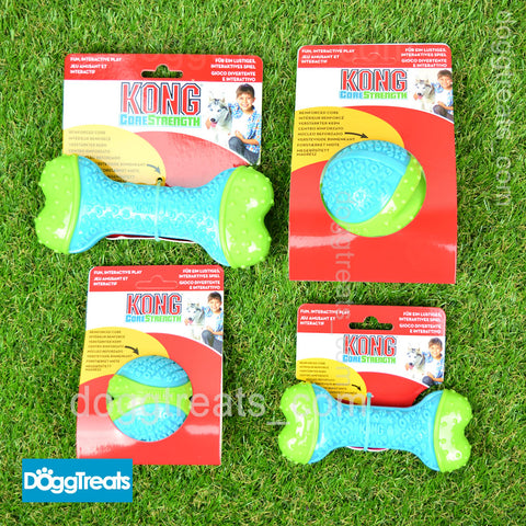 KONG Core Strength Durable Dental Dog Chew Nylon Rubber - Bone Ball - Large Medium