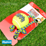 KONG Squeakair Tennis Ball with Rope Dog Toy