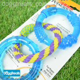 Dental Chew Rings - Rubber and Rope - Petstages Orka Dental Links