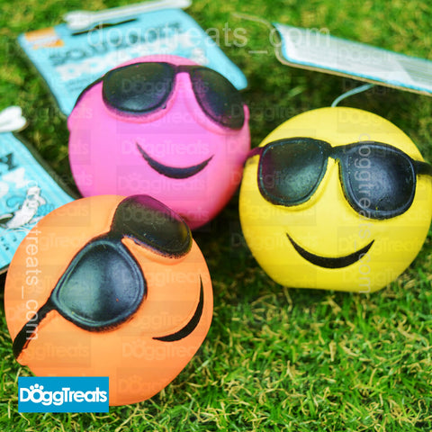 Summer Squeaky Latex Dog Ball Good Boy FaceBall Dog Face Balls Toy Fetch Puppy