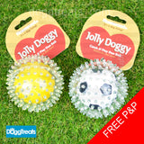 Rosewood Jolly Dog Rubber Spiky Fetch Ball - Football / Tennis