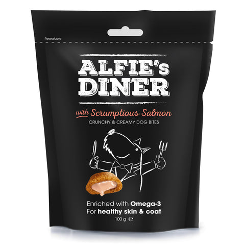 Alfie's Diner Dog Treats - Salmon - 100g