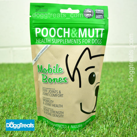 Mobile Bones Natural Health Dog  Supplement - Joints - Pooch & Mutt 200g