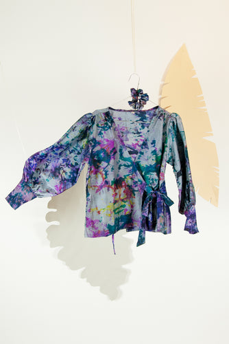A Splash of Batik Blouse - S #01