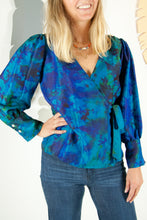 A Splash of Batik Blouse - S #02