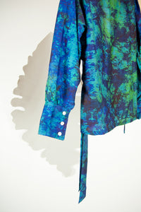 A Splash of Batik Blouse - M #04