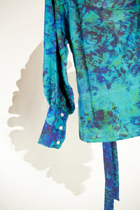 A Splash of Batik Blouse - S #04