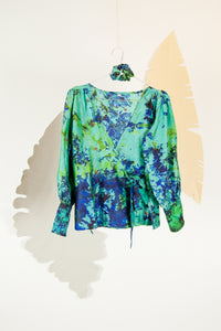 A Splash of Batik Blouse - S #05