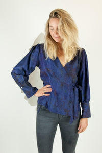 A Splash of Batik Blouse - S #08