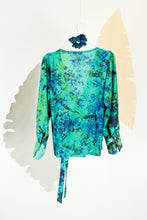A Splash of Batik Blouse - M #10